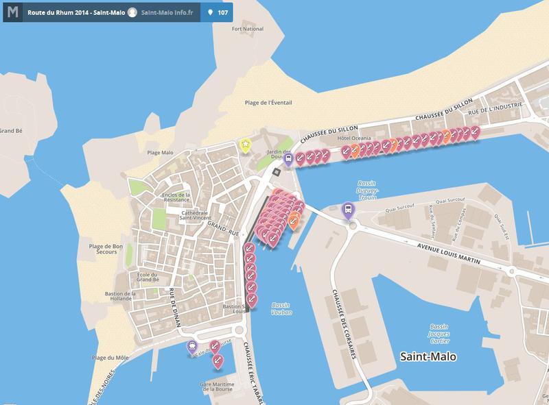 ROUTE DU RHUM 2014 - Implantation des bateaux dans le port de Saint-Malo - Data.gouv.fr