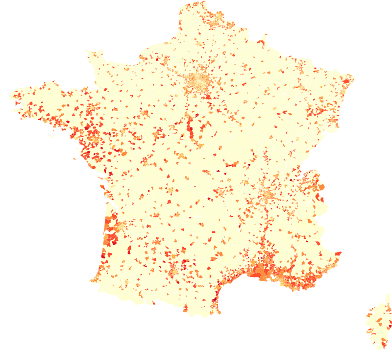 Les points noirs des accidents de la route en France : une visualisation Big Data