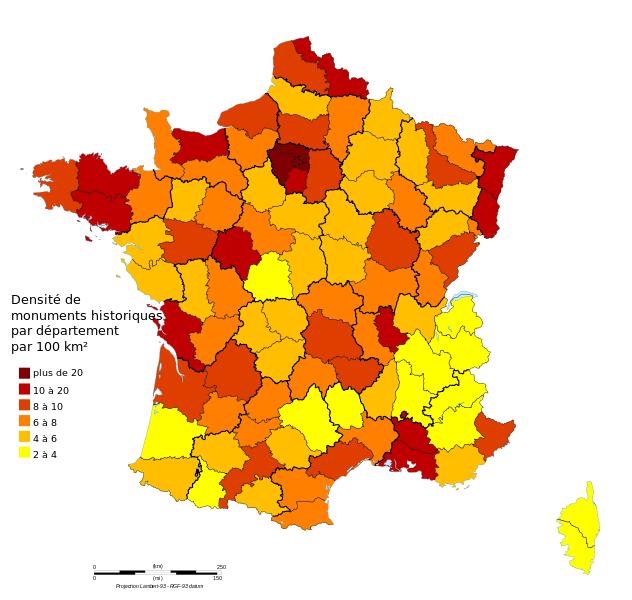 France Liste Ville Patrimoine Historique