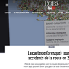 Rue89 : La carte de (presque) tous les accidents de la route en 2012