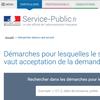 Services en ligne et formulaires du site service-public.fr - Démarches « silence vaut accord »